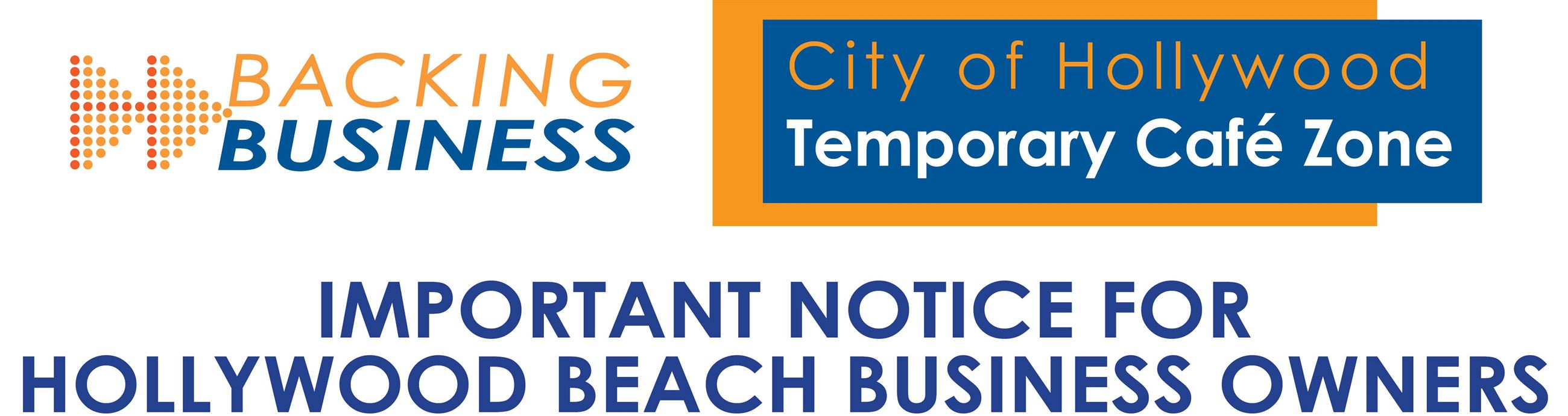 Important Notice to Hollywood Beach Business Owners